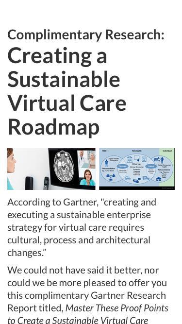 Download Gartner Virtual Care Roadmap