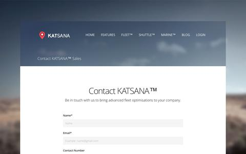 Screenshot of Contact Page katsana.com - Contact KATSANA™ Sales - Katsana GPS Tracking System Malaysia - captured Feb. 11, 2016