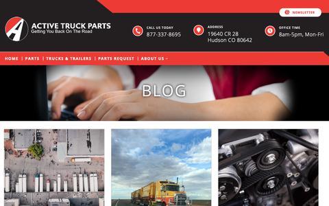 Screenshot of Blog activetruckparts.com - Blog – activetruckparts - captured Oct. 3, 2018