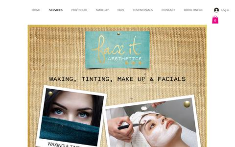 Screenshot of Services Page faceitskin.net - Faceitskin.net | Antiaging Products | Peels | Oregon | Mineral Makeup | SERVICES - captured Oct. 10, 2018