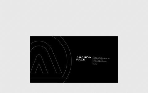 Screenshot of Home Page anandapack.com.ar - Ananda Pack - captured Oct. 4, 2014