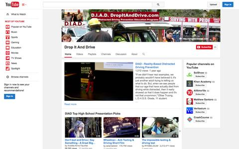 Screenshot of YouTube Page youtube.com - Drop It And Drive  - YouTube - captured Oct. 23, 2014