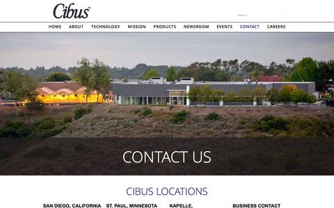 Screenshot of Contact Page cibus.com - Cibus - Contact Us - captured Jan. 28, 2016