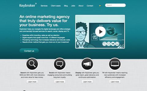 Screenshot of Home Page keybroker.com - Keybroker | Online Marketing Agency and Consultants | Online marketing agency - captured Sept. 16, 2014