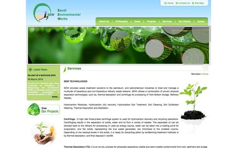 Screenshot of Services Page sewltd.com.sa - Welcome To Saudi Environmental Works - captured Oct. 6, 2014