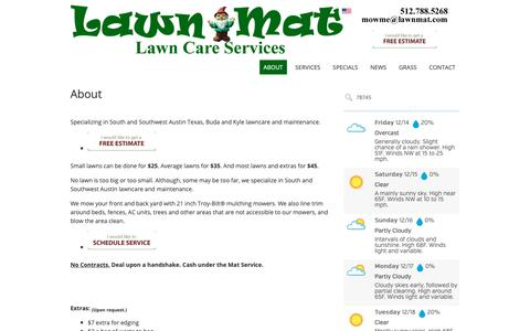 Screenshot of About Page lawnmat.com - About – Lawn-Mat Lawn Care Services - captured Dec. 14, 2018