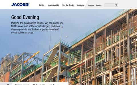 Screenshot of Home Page jacobs.com - Jacobs - captured Oct. 2, 2014