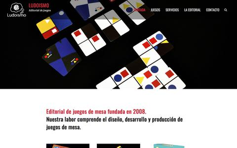 Screenshot of Home Page ludoismo.cl - Ludoismo – Editorial de juegos - captured July 24, 2018