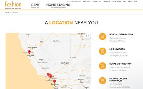 Screenshot of Locations Page fashionfurniture.com - Fashion Furniture Rental says… - captured Sept. 1, 2018