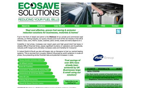 Screenshot of Home Page ecosavesolutions.co.uk - Ecosave Solutions - Reducing your Fuel Bills - captured Sept. 20, 2015