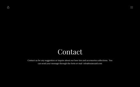 Screenshot of Contact Page louisezaid.com - Contact | LOUISE & ZAID - captured Nov. 4, 2018