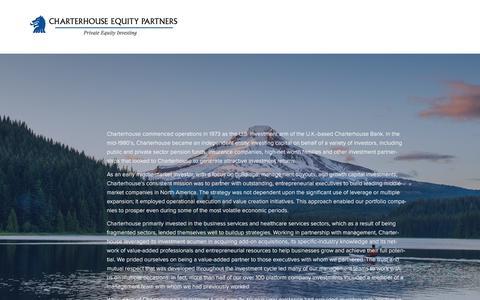 Screenshot of Home Page charterhouseequity.com - Charterhouse - captured July 25, 2017