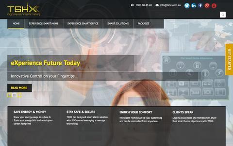 Screenshot of Home Page tshx.com.au - TSHX - captured Oct. 7, 2014
