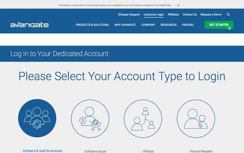 Screenshot of Login Page avangate.com - Login to Access Avangate Applications - captured Oct. 20, 2016