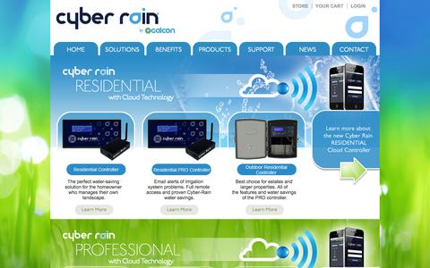 Screenshot of Products Page cyber-rain.com - Cyber Rain Irrigation Smart Controller Products,  Residential and Professional Wireless Irrigation Solutions - captured Nov. 3, 2014