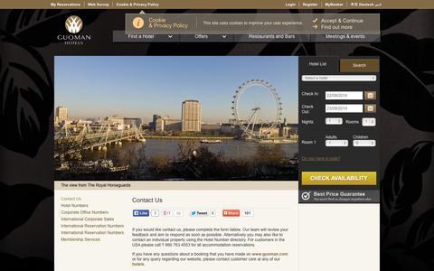 Screenshot of Contact Page guoman.com - Contact Us - captured Sept. 23, 2014