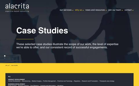 Screenshot of Case Studies Page alacritaconsulting.com - Case Studies Archive - Alacrita LLP - captured May 29, 2017