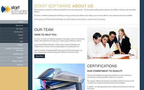 Screenshot of About Page start-software.com - Start Software - Software Development Services - About Us - captured June 19, 2017