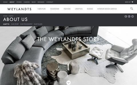 Screenshot of About Page weylandts.co.za - About Us | The Weylandts Story | Weylandts South Africa - captured Dec. 29, 2017