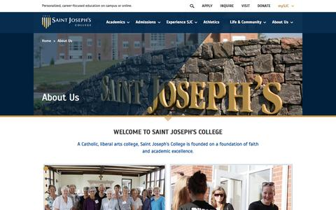 Screenshot of About Page sjcme.edu - About Our School | Saint Joseph's College of Maine - captured Oct. 4, 2017