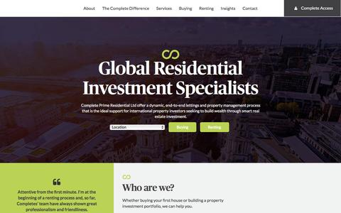 Screenshot of Home Page complete-ltd.com - Global Specialist Lettings and Property Management Complete Ltd. - captured July 15, 2016