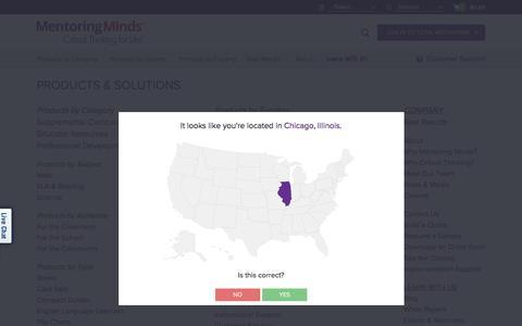 Screenshot of Site Map Page mentoringminds.com - Sitemap | Mentoring Minds - captured Sept. 5, 2017