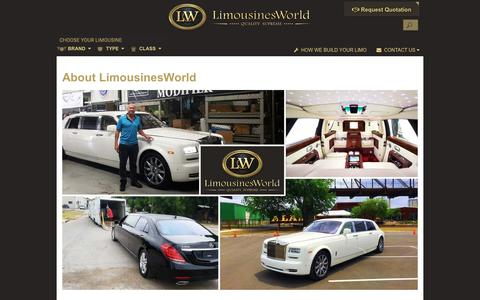 Screenshot of About Page limousinesworld.com - About LimousinesWorld | Custom Limousines Builder and Limos Manufacturer | LimousinesWorld - captured July 20, 2018