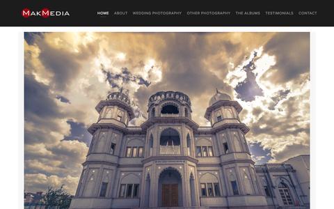 Screenshot of Home Page makmedia.com - Asian Wedding Photography - captured Feb. 4, 2016
