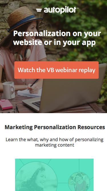Website Personalization    Autopilot Marketing