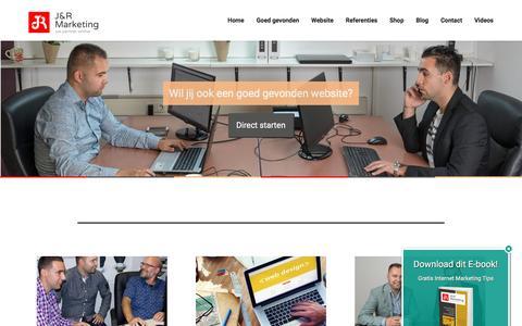 Screenshot of Home Page jenrmarketing.nl - Homepage - captured Aug. 7, 2016