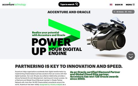 Screenshot of accenture.com - Oracle Application Services and Oracle Solutions | Accenture - captured Jan. 10, 2018