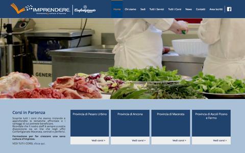 Screenshot of Home Page imprendere.net - Imprendere - Formazione e cultura di impresa - captured Oct. 9, 2015