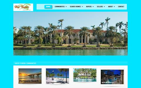 Screenshot of Home Page hottropicproperties.com - Hot Tropic Properties, <b>Your Real Estate Company</b> for Lighthouse Point Homes for Sale, Parkland Homes for Sale, Boca Raton Homes for Sale, Wilton - captured Dec. 8, 2018