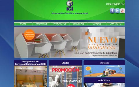 Screenshot of Home Page iciweb.com.mx - Información Cientifica Internacional - captured Feb. 10, 2016