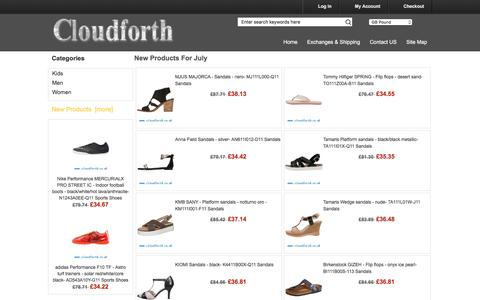 Screenshot of Home Page cloudforth.co.uk - Buy Online clothes, bags, glasses, shoes - captured July 14, 2016