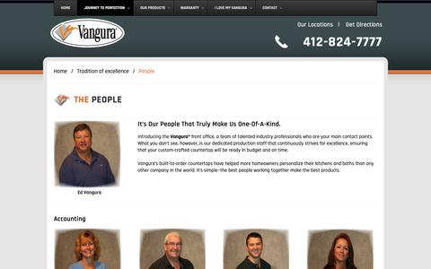 Screenshot of Team Page vangura.com - Our Professional Team | Vangura - captured Oct. 18, 2018