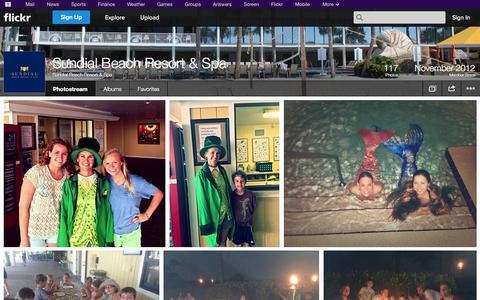 Screenshot of Flickr Page flickr.com - Flickr: Sundial Beach Resort & Spa's Photostream - captured Nov. 2, 2014