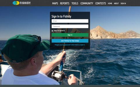 Screenshot of Login Page fishidy.com - Sign in to Your Fishidy Account - captured Sept. 23, 2014