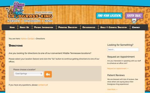 Screenshot of Maps & Directions Page snodgrassking.com - Directions | Snodgrass-King Dental Associates - captured Feb. 15, 2016