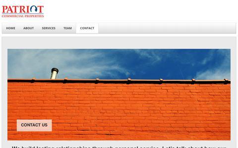 Screenshot of Contact Page patriotcommercialproperties.com - CONTACT - captured July 16, 2018