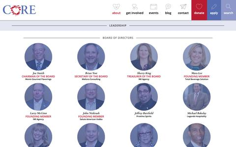 Screenshot of Team Page coregives.org - Children of Restaurant Employees - Leadership Archive - Children of Restaurant Employees - captured Sept. 27, 2018