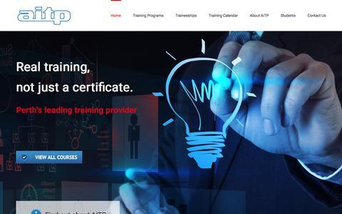 Screenshot of Home Page aitp.com.au - Management & Leadership Training Programs in Perth | AITP - captured Nov. 19, 2016