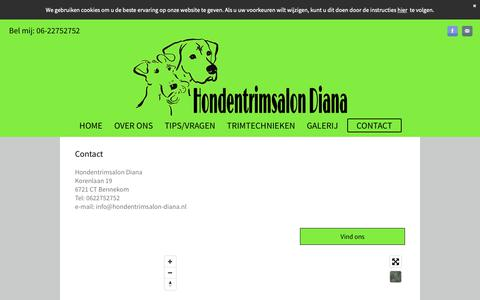 Screenshot of Contact Page hondentrimsalon-diana.nl - Hondentrimsalon-Diana/contact - captured Oct. 28, 2018