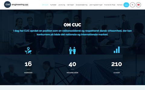 Screenshot of About Page cuc.dk - About CUC | CUC engineering A/S - captured Jan. 23, 2016