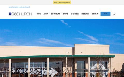 Screenshot of Contact Page c3church.com - Contact - C3 Church - captured Nov. 9, 2018