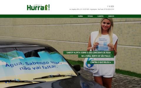 Screenshot of Home Page hurra.com.br - Agência Hurra! - captured Sept. 30, 2014