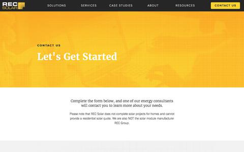 Screenshot of Contact Page recsolar.com - REC Solar Contact Page - captured Sept. 19, 2017