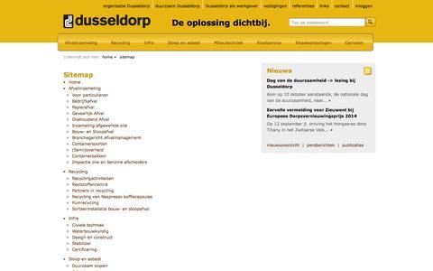 Screenshot of Site Map Page dusseldorp.nl - Sitemap - Dusseldorp | De oplossing dichtbij. - captured Oct. 5, 2014
