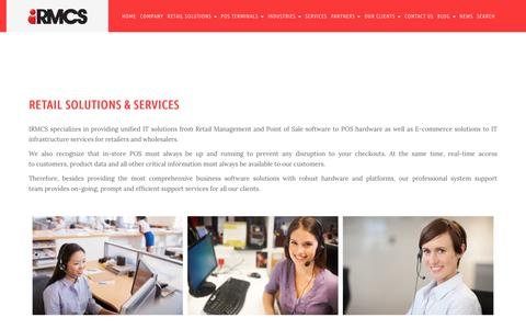 Screenshot of Services Page irmcs.asia - Retail Solutions & Services | IRMCS - captured Dec. 17, 2018