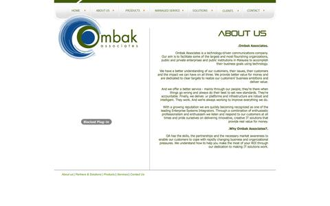 Screenshot of About Page ombakassociates.com - Ombak Associates - eBusiness Partner - captured Oct. 27, 2014